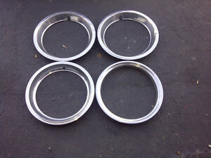 "Chrome Wheel Trim Rings 15"""