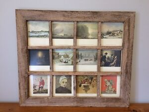 Solid Wood Antique Picture Frame with Artwork