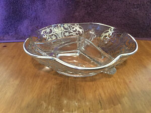 2 STERLING SILVER OVERLAY DISHES
