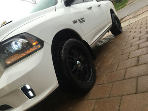 Black boss rims and tires