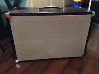 Pine Speaker Cabinet loaded with 2x10 Jensen MOD speakers.