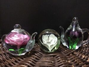 GLASS ORNAMENTS/PAPERWEIGHTS