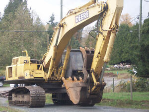 Now dismantling excavators for parts: John Deere 120CLC & 450CLC
