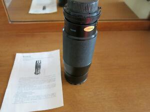 Objectif 100-300mm  f5.6-32 pour appareil argentique