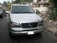 2001 Mercedes ML 430 in mint condtion 223K highway driven