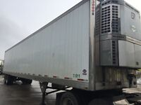 53' 2007 Utility reefer trailer with Thermo king reefer