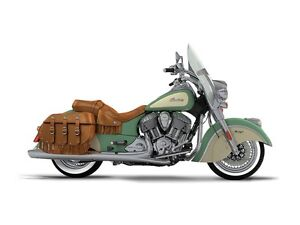2017 Indian Motorcycle Chief Vintage Willow Green Over Ivory Cre