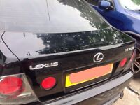 Lexus is200 black 2o2 boot lid bootlid tailgate complete 98-05 breaking spares is 200 is300