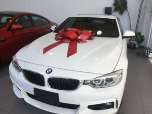 2017 BMW 440i xCoupe lease takeover white on saddles brown