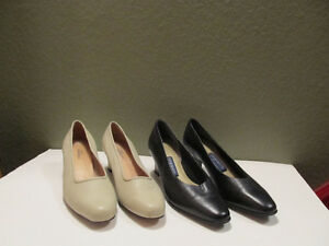 Women's leather dress shoes in new condition.