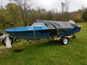 1976 70 hp evinrude 16 foot boat