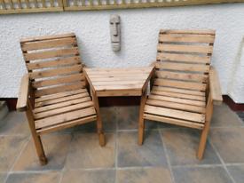 Solid wood companion chairs