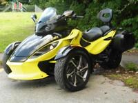 14/14 CAN-AM SPYDER ROADSTER SE5 SEMI AUTO TRIKE LUGGAGE 4,800 MILES
