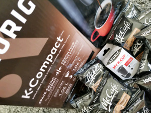Keurig K Compact with My K Cup and McCafe pods