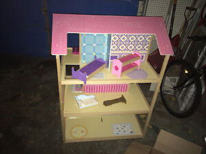 HUGE Wooden Dollhouse and Furniture Windsor Region Ontario image 3
