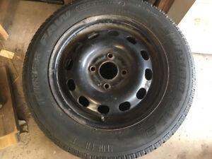 4x UNIROYAL TIGER PAW WINTER TIRES WITH RIMS