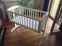 Swinging crib with mattress (Mothercare)
