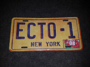 Ecto1 Ghost Busters Licence Plate