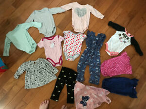 LOT of GIRLS  clothes x12. Size 12-18 months