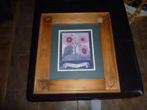 For Sale - Sunflower Picture - Solid Wood Frame