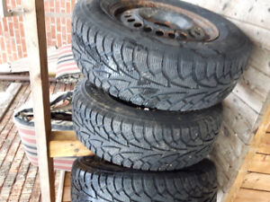 215/70R15 98S HANKOOK WINTER TIRES & RIMS