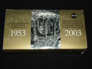 2003 Queen Elizabeth II Stamp & Coin Set 1953-2003