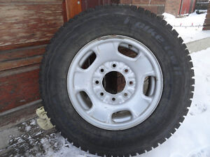 ALMOST NEW 17 inch tires on 8 bolt rims