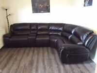 Corner sofa with hand console L shaped bad boy recliner suite left or right with option for delivery