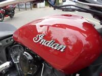 Indian Scout Sixty in Indian Red, Ex-Demo 313miles Mint Indian performance pipes