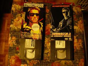 TERMINATOR + TERMINATOR 2 SCHWARZENEGGER ( 2 VHS EN FRANÇAIS )