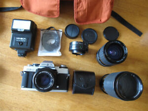 Minolta XGM  with lenses & accessories...Mint !
