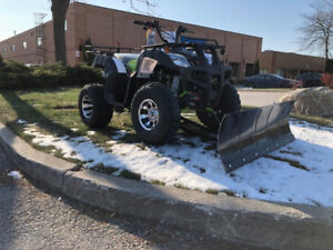 New ATV with Snow Plow on for $2400 - CALL 905.856.3212