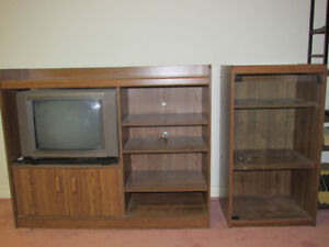 Entertainment Center with matching Book/Display Case