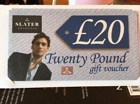 £100 Slater Menswear vouchers