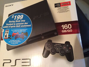 SONY PLAYSTATION 3 WITH 7 PS3 GAMES