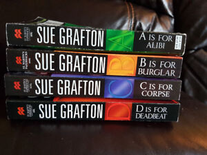 First four novels from Sue Grafton Letter series