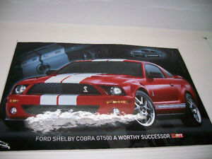 Poster / Affiche Mustang Shelby GT-500 2008 + 1968 GT-500