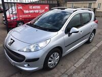 2008 PEUGEOT 207 S TD SW, 77000, 1 YEAR MOT, WARRANTY, NOT FOCUS PASSAT ASTRA MEGANE ACCORD
