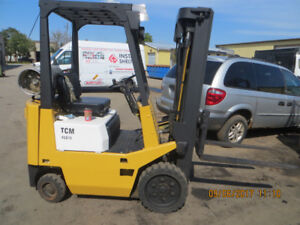PRICE REDUCED TO SELL CERTIFIED 3,000 LB CAP TCM FORKLIFT