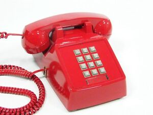 Looking for hardwired old push button phone RED