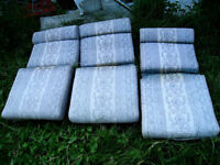 3 High back thick Patio Chair Cushions, comfortable