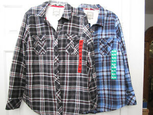 Fleece lined shirts, Lady Hathaway,Med and XL,Brand New..REDUCED