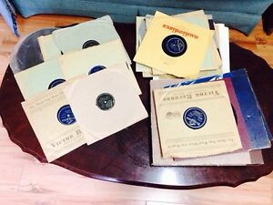 Lot of 41 Antique Phonograph 78's, RCA Victor, Bluebird, etc