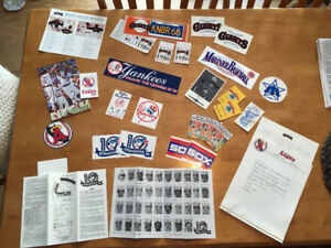 1980's Baseball Stickers / Promo - Blue Jays, Yankees, Giants