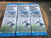3 X Streetwize roof rack cycle carriers (brand new - in boxes)