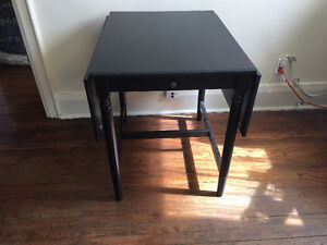 Set from INGATORP Drop-leaf table, black-brown + 3 Chairs