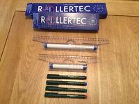Rollertec Rolling Rulers & Pens