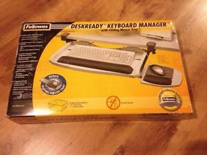 Keyboard Manager with Gliding Mouse Tray