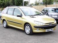 Peugeot 206 Estate, 1.4HDi XT, Long Mot, 2003