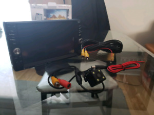 """2 Din 7"""" aftermarket bluetooth Mp5 stereo w/ back up camera"""